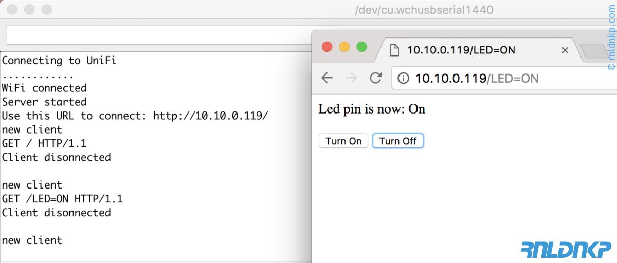 NodeMCU Blink + HTTP